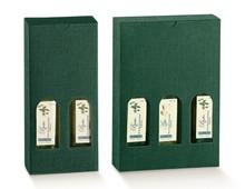Geschenkkarton grün für 2/3 Flaschen 25 cl H. 24 cm : Verpackung fur flaschen und regionalprodukte