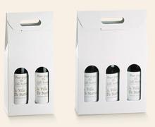 Weinkarton weiss 2/3-Flaschen : Verpackung fur flaschen und regionalprodukte