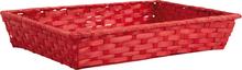 Präsentierungskorb  Bambus rot rechteckig : Korb geschenkkorb präsentierungskorb