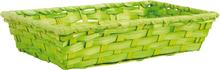 Präsentierungskorb Bambus grün rechteckig : Korb geschenkkorb präsentierungskorb