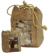 Jute Säckchen mit Sichtfenster : Verpackung für bäkerei konditorei