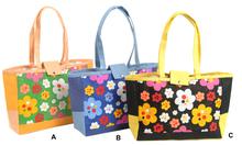 Gr. Handtasche Jute Blümchen : Ladentaschen einkaufstaschen modetaschen