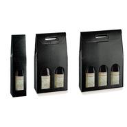 Präsentierungskiste schwarz 1/2/3-Flaschen Riesling : Verpackung fur flaschen und regionalprodukte