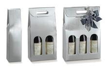 Geschenkkiste silber 1/2/3-Flaschen : Verpackung fur flaschen und regionalprodukte
