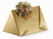 Geschenkkiste Wein 3 Flaschen Dreieck gold : Verpackung fur flaschen und regionalprodukte