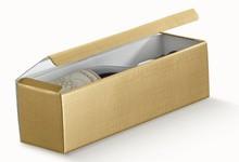 Geschenkkiste Gold 1-Flasche : Verpackung fur flaschen und regionalprodukte