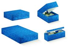 Geschenkkiste blau 1/2/3/6 Flaschen : Verpackung fur flaschen und regionalprodukte