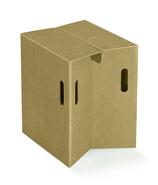Sitz aus Karton : Pappmöbel einrichtung aus karton