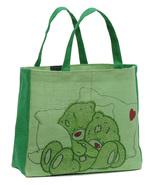 Shopping Tasche Jute grüne Teddys : Ladentaschen einkaufstaschen modetaschen