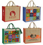 Werbetasche Shopper Jute mit Ihrem Logo : Ladentaschen einkaufstaschen