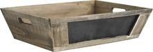 Präsentkorb aus Holz  + schwarze Tafel  : Korb geschenkkorb präsentierungskorb