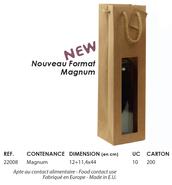 Geschenktasche Kraft 1 Flasche Magnum m. Fenster : Verpackung fur flaschen und regionalprodukte