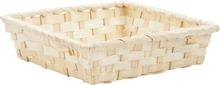 Präsentierungsschale 4eckig Bambus weiss : Korb geschenkkorb präsentierungskorb