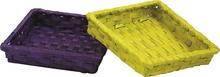 Präsentierungsschale quadrat Bambus - 2 St. : Korb geschenkkorb präsentierungskorb