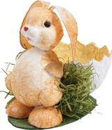Körbchen Pappmache Osterhase : Verpackung für feste