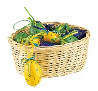 Körbchen Weide + 18 Eier : Verpackung für feste