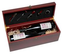 Holzkiste Weinkenner 2-Flaschen inkl. Weinbesteck : Verpackung fur flaschen und regionalprodukte