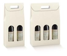 Weinkarton Lederprägung weiss 2/3-Fl. : Verpackung fur flaschen und regionalprodukte