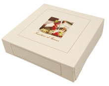 Tortenkarton Elfenbein-weiß H. 5 cm : Geschenkschachtel präsentbox