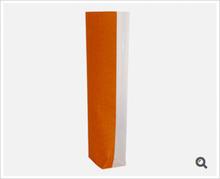 Klarsichtbeutel Kreuzboden PP o. Zellglas bedruckt Jute orange - 100St. : Verpackung für bäkerei konditorei
