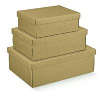 Pappschachtel 2-tlg havanna : Geschenkschachtel präsentbox