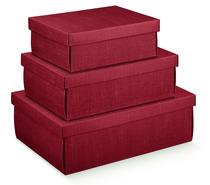 Pappschachtel 2-tlg bordeaux : Geschenkschachtel präsentbox