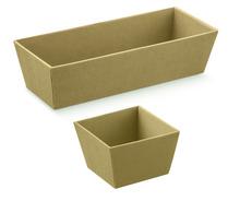 Präsentierungskorb 4eckig Karton naturbraun : Korb geschenkkorb präsentierungskorb