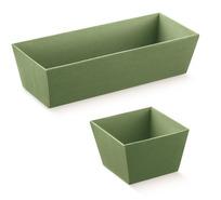 Präsentierungskorb 4eckig Karton grün : Korb geschenkkorb präsentierungskorb