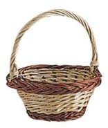 kl. Dekokorb Weide 2farbig Ø13 H.5 cm : Korb geschenkkorb präsentierungskorb