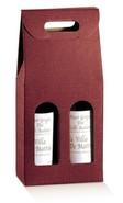 Flaschenkarton rot 2-Flaschen stehend 'Milano' : Verpackung fur flaschen und regionalprodukte
