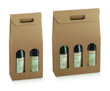 Kauf Flaschenkarton Kraft 2/3-Fl. Wein m. Fenster