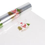 Geschenkfolie PP m.Motiven Weihnachtsmännchen : Verpackungzubehör