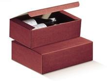 Flaschenkarton rot 2-Flaschen 'Milano' : Verpackung fur flaschen und regionalprodukte