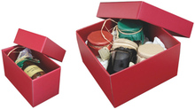 Geschenkschachtel Pappe bordeaux 'Gourmet' : Geschenkschachtel präsentbox