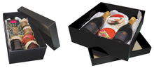 Geschenkschachtel Pappe schwarz 'Gourmet' : Geschenkschachtel präsentbox