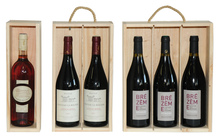 Holzschachtel 1/2/3-Flaschen 75 cl : Verpackung fur flaschen und regionalprodukte
