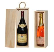 Holzschachtel 1-Flasche Magnum o.Champag : Verpackung fur flaschen und regionalprodukte