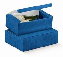 Geschenkschachtel Karton 2/3 Flaschen blau : Verpackung fur flaschen und regionalprodukte