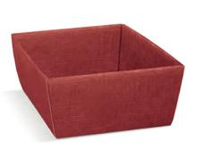 Geschenkkorb Pappe bordeaux 29x21x9 cm : Korb geschenkkorb präsentierungskorb