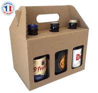 Geschenkkarton Bier 6-Fl. x 33cl : Verpackung fur flaschen und regionalprodukte