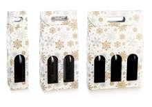Geschenkkarton 1/2/3 Flaschen 'Crystal' stehend m. Griff : Verpackung fur flaschen und regionalprodukte