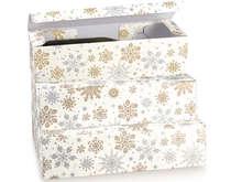 Geschenkkarton 1/2/3 Flaschen 75 cl. 'Crystal' : Verpackung für feste