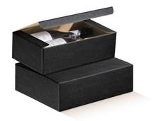 Flaschenkarton schwarz 2-Flaschen 'Milano' : Verpackung fur flaschen und regionalprodukte