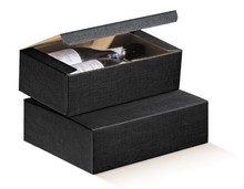 Flaschenkarton schwarz 3-Flaschen 'Milano' : Verpackung fur flaschen und regionalprodukte