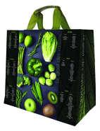 Shopper Einkaufstasche 30L PP schwarz bedruckt 'rotes Gemüse'' : Ladentaschen einkaufstaschen
