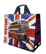 Shopper Einkaufstasche 33L PP bedruckt 'so British!' : Ladentaschen einkaufstaschen