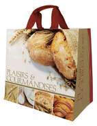 Shopper Einkaufstasche 30L PP bedruckt 'Plaisirs et gourmandises' : Ladentaschen einkaufstaschen