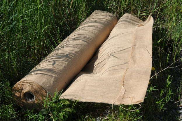 Stoffrolle Jute naturbraun B.170 cm : Verpackungzubehör