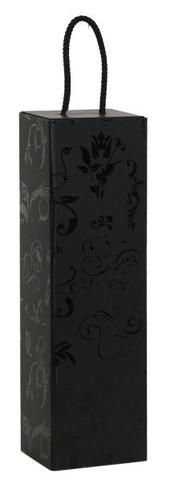 Flaschenkarton schwarz 1-Flasche stehend : Verpackung fur flaschen und regionalprodukte