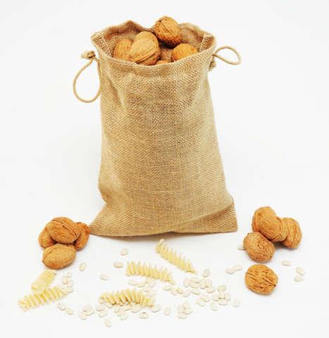 Obst- & Gemüsesäckchen mehrweg Jute m. Kordelzug : Verpackung für bäkerei konditorei
